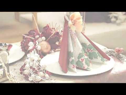 Pliage de serviettes pour votre table de fête - Pyramide - YouTube
