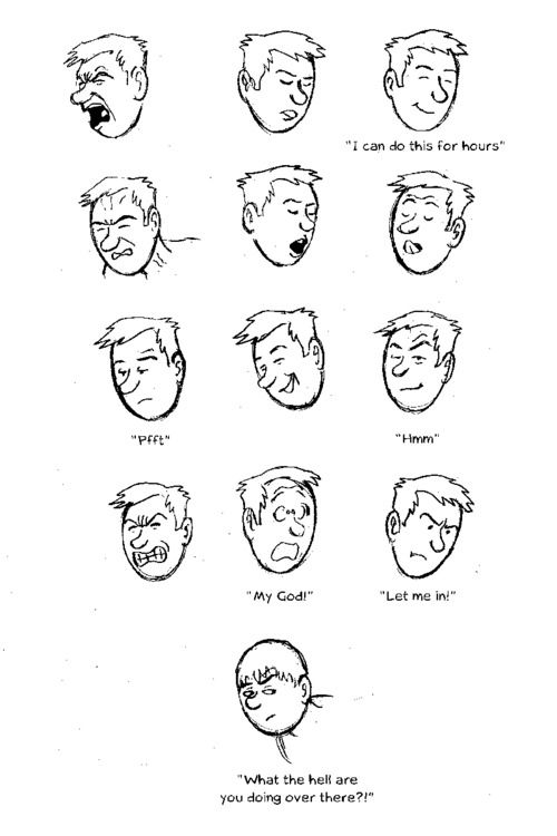 Max (of Max & Sven)fuck-face expression guide by Tom Bouden! (The face at the end is Carl's ;-D ) This is the third entry for the Homoerotic Fuck-Face Facial Expression Guide Challenge!I challenge illustrators, cartoonists and artists of the internet to make fuck-face guide with a character of their choice! It could be an original character or a comic book or comic strip character; entries that have multiple fuck face expressions in a facial expression guide format like the ...