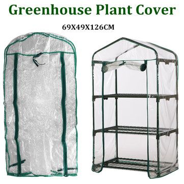 126X49X69CM Garden Greenhouse Walk-In Green Hot Plant House Shed Storage PE Cover Apex Roof