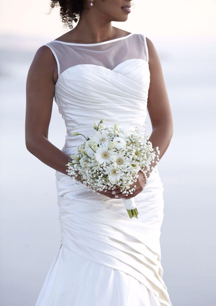 Bridal bouquet, gerber baby breath, santorini, planner the diamond rock