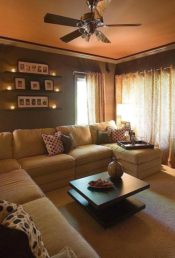 Comfortable Warm Living Room Ideas