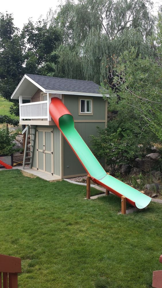 23 best shed playhouse images on pinterest shed for Playhouse sheds