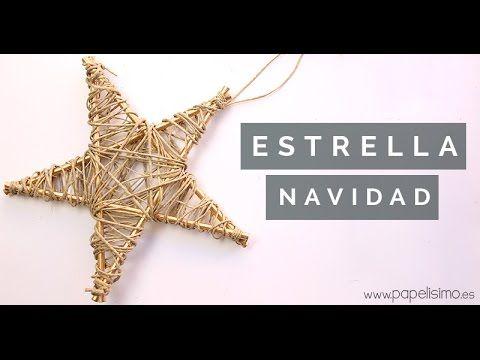 Cómo hacer estrella para árbol de Navidad. Manualidades de Navidad - YouTube