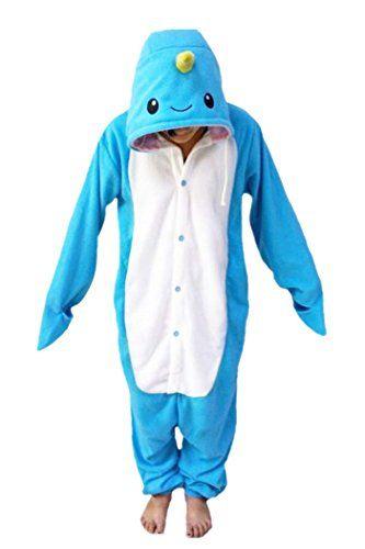 Animal Cosplay Costume Narwhal Onesies Unisex-adult Pajamas Cartoon Sleepwear Size XL Sky Blue Jiangke http://www.amazon.com/dp/B017OU1C46/ref=cm_sw_r_pi_dp_7qRTwb0CNXR5B