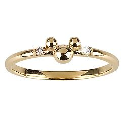 14-Kt Gold and Diamond Mickey Mouse Ring from the Disney Dream Collection !! <3