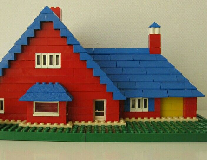 1960s assembled Lego house
