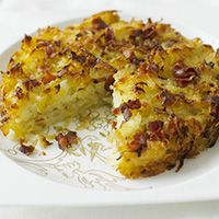Rosti, is a Thinly grated potatoes, pan-fried until crisp and golden, rosti is one of Switzerland's iconic national dishes. Though no one knows when the first rosti was cooked-up, farmers in the canton of Bern would traditionally eat it for breakfast