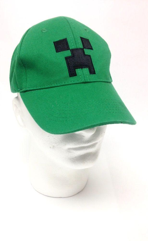 Minecraft Creeper Adjustable Baseball Hat Cap Green SnapBack By Jinx ... d891b8dfcb