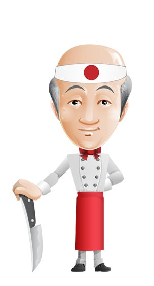 Image for Free Asian Chef Vector Character