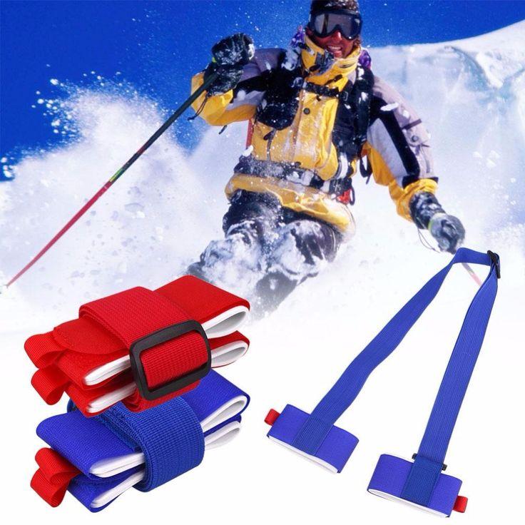 Fofar Ski Ceinture Ski planche à Neige Fixation De Snowboard Protection Cravate Ski Snowboard Sac ceinture Transporteur Main Poignée De fixation Sangles