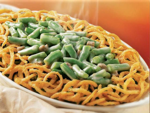 Classic Green Bean Casserole, favorite dish during the holidays