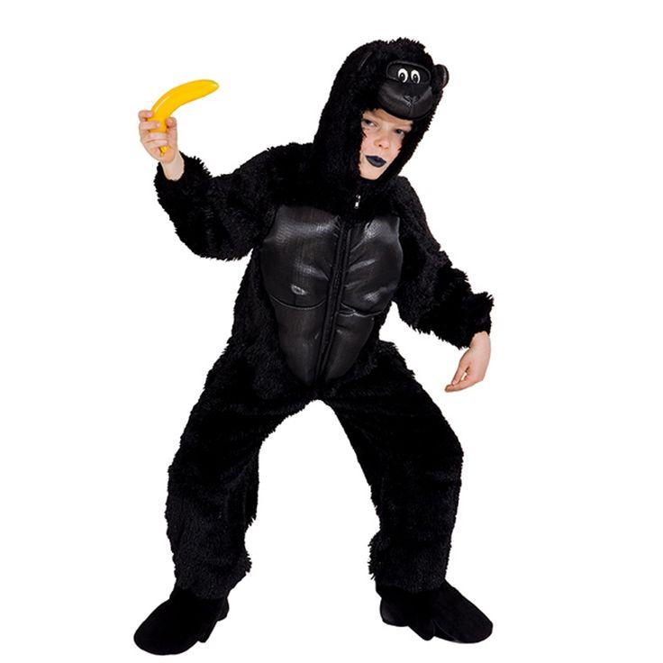 Einfach zum Affen machen mit dem Schwarzer Gorilla Kostüm für Kinder :-)