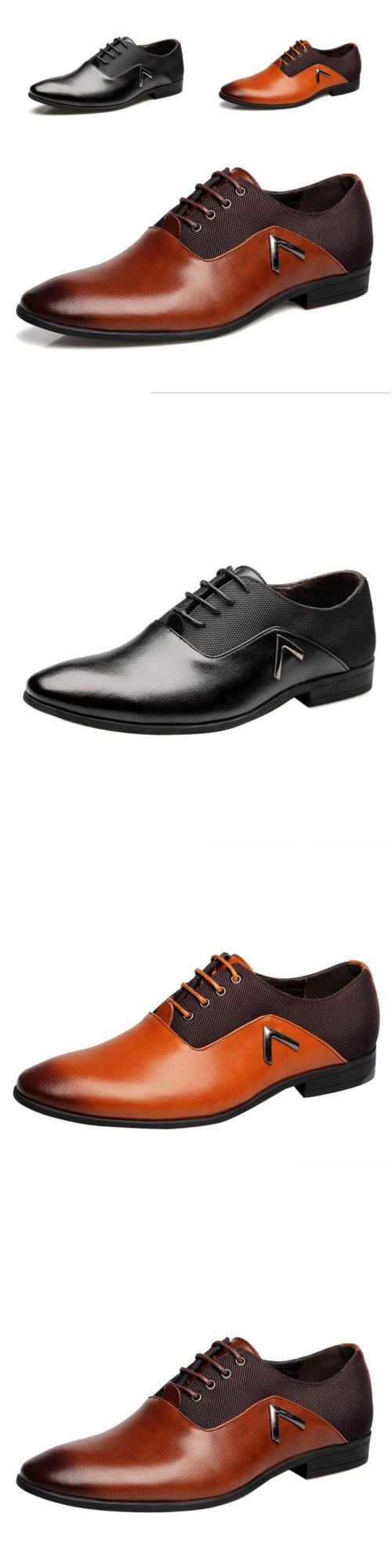 Dress Formal 53120: Men Business Dress Formal Leather Shoes Flat Oxfords Loafers Lace Up Pointy Toe -> BUY IT NOW ONLY: $30.25 on eBay!
