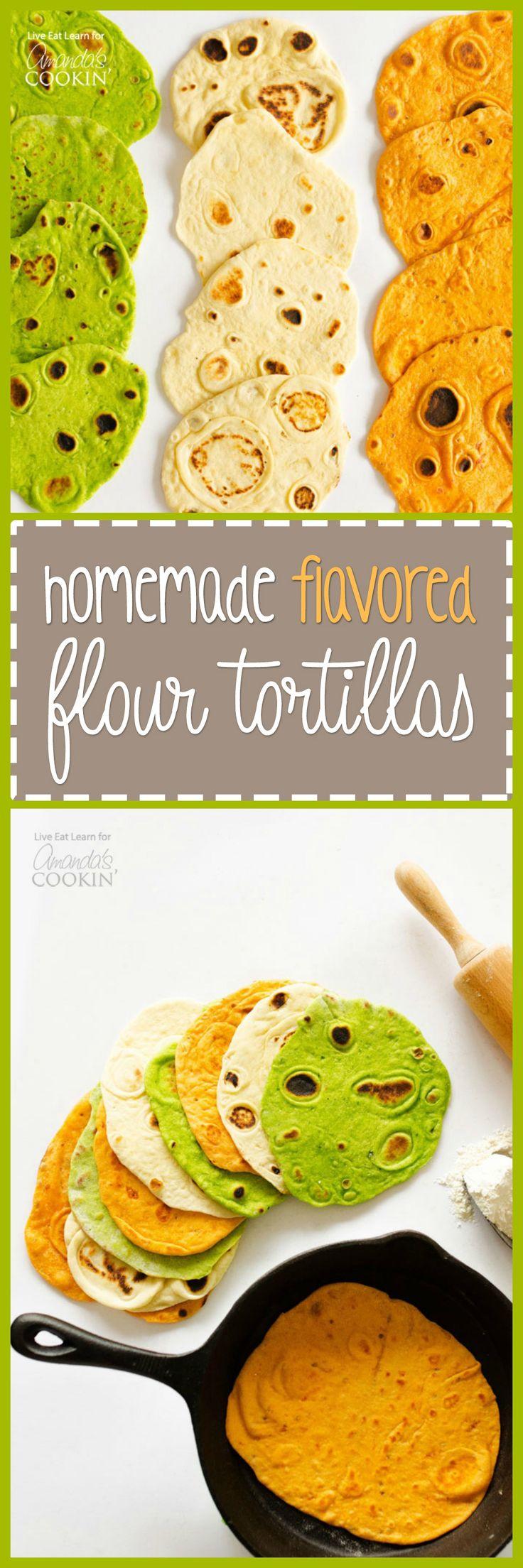 Homemade Flavored Flour Tortillas