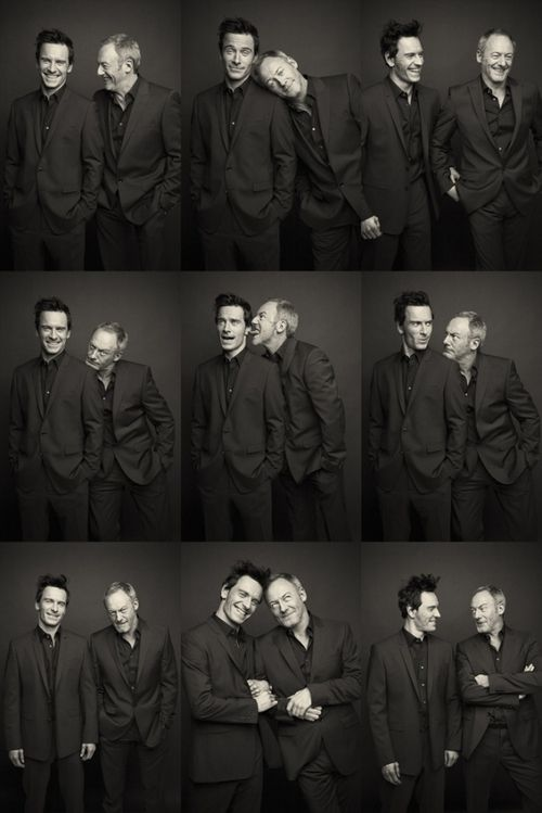 Michael Fassbender andLiam Cunningham Photographed by Barry McCall