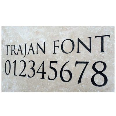 Clarus Crystal Engraved Stone Address Plaque Color: Light Stone with Black Text, Font: Trajan Font