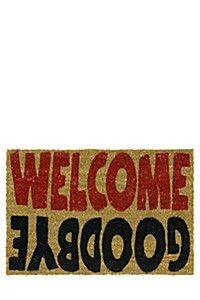 COIR WELCOME/GOODBYE 40X60CM DOORMAT
