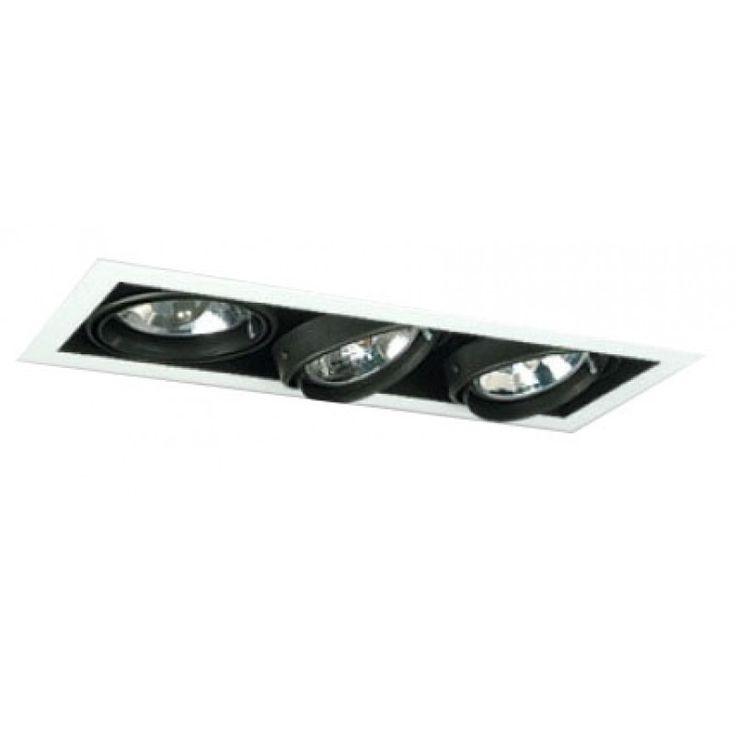 Spot de embutir para 3 lámparas AR111
