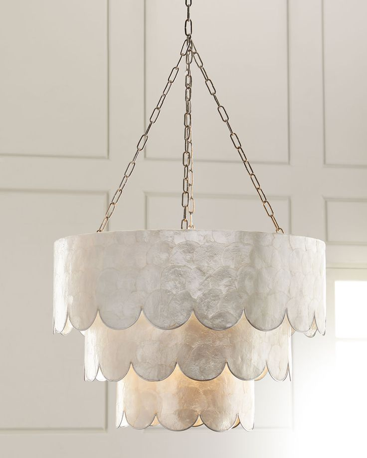 three tiered scalloped capiz 3 light pendant blown pendant lights lighting september 15