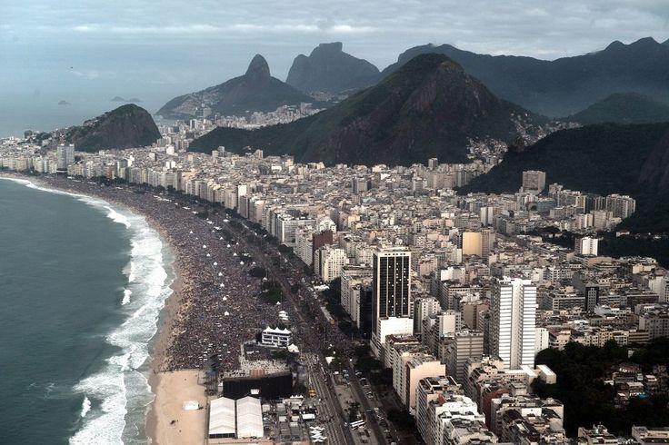 Copacabana Beach, JMJ Rio2013, July 28.