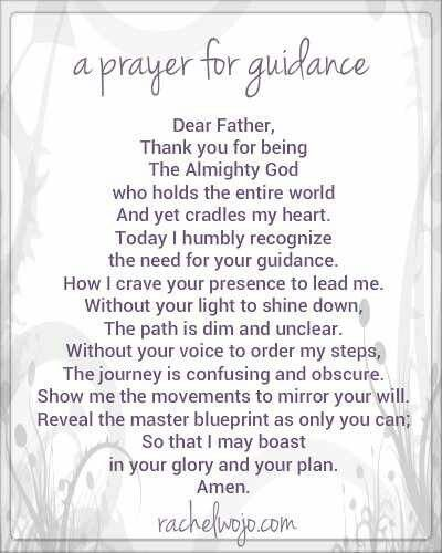 Prayers for Guidance