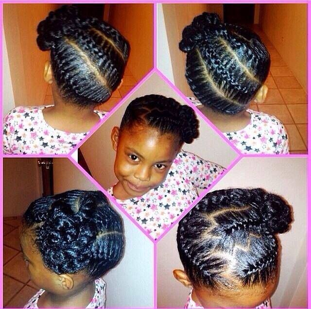Astounding 1000 Images About Cute Protective Styles For Little Girls On Short Hairstyles For Black Women Fulllsitofus