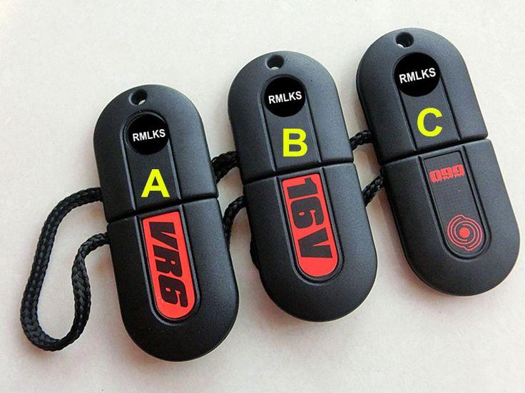 RMLKS Key Shell For VW Car Key Cover HU49 Blade White Led Light G60 Pill Key Works On 1990 Jetta GLI VR6 G60 16V 1990 Golf GL #Affiliate