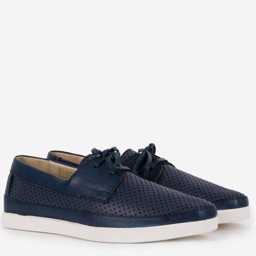 Pantofi din piele naturala bleumarin Casilda
