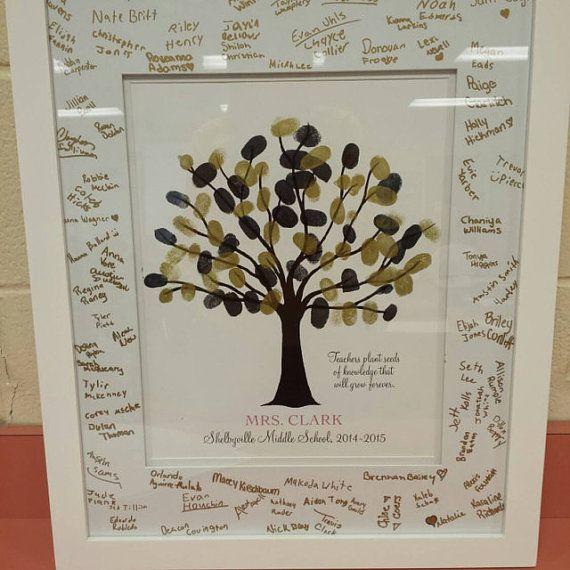 Quotes About Teachers Planting Seeds: Teachers Gift Fingerprint Tree Plant Seeds Quote Teacher
