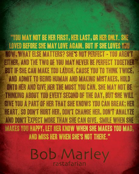 """Rastafarian Proverbs 