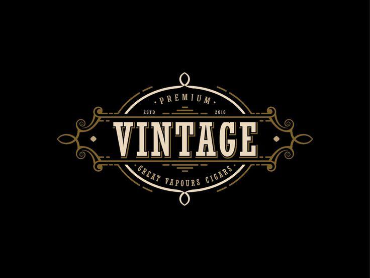 Vintage Logo Design - Cigars Logo Design - Vapor Cigarettes - E Cigarettes - Business Logo - Business Logo - Whatermark Logo - Custom Logo by fremusdesign on Etsy https://www.etsy.com/listing/276640078/vintage-logo-design-cigars-logo-design