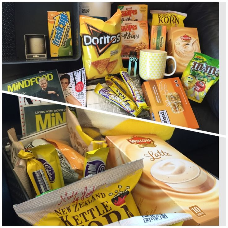 A Ray of Sunshine gift basket. Products easily found in New Zealand