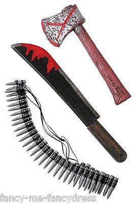 #Halloween zombie hunter 3 bloody toy axe weapon #fancy dress #costume outfit kit,  View more on the LINK: http://www.zeppy.io/product/gb/2/121932559756/