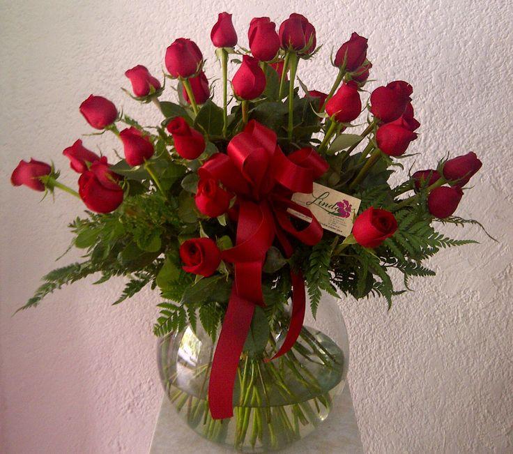 Arreglo rosas rojas de invernadero en pecera de cristal - Invernadero de cristal ...