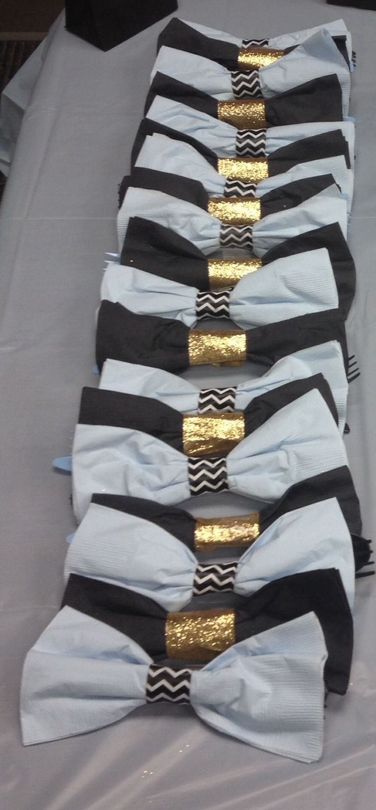 lil man bow tie baby shower blue black and gold