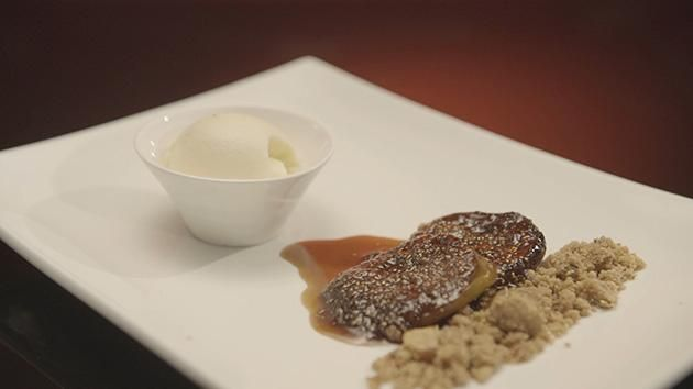 Caramelised Fig with Olive Oil Ice Cream Recipe by Lama and Sarah. #MKR #LamaSarah #Dessert
