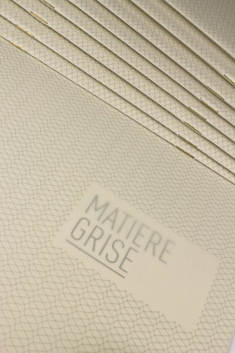 Matiere Grise by quattrolinee , via Behance