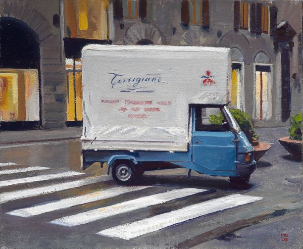 Apino Torrigiani Vivaio Torrigiani. 20 x 25 cm, huile sur toile de lin.
