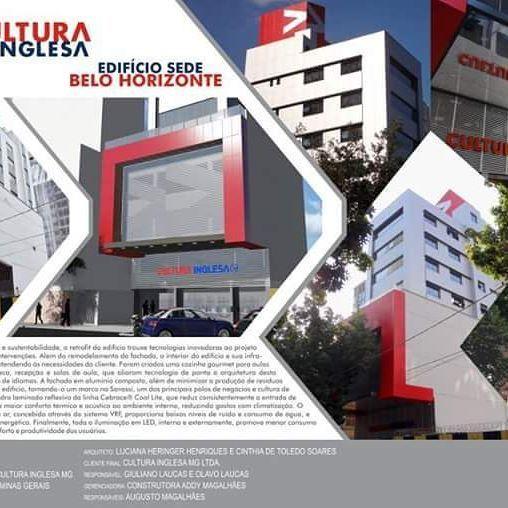 O projeto do edifício sede da Cultura Inglesa Minas Gerais, projetado pelas arquitetas Luciana Henringer Henriques e Cinthia De Toledo Soares, e executado pela Construtora Addy Magalhães está concorrendo ao XIII Grande Prêmio de Arquitetura Corporativa 2016. PARTICIPE VOTANDO EM NOSSO PROJETO!  Para votar, siga por favor os seguintes passos 1- acesse o site http://www.flexeventos.com.br/votacao/votar/index 2- cadastre seu email, clique enviar 3- entre no seu email e clique no link (se não…