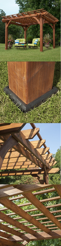 Pergolas 180996: Free Standing Pergola 10 X 12 Gazebo Kit Backyard Outdoor Patio Canopy Building -> BUY IT NOW ONLY: $1288.95 on eBay!