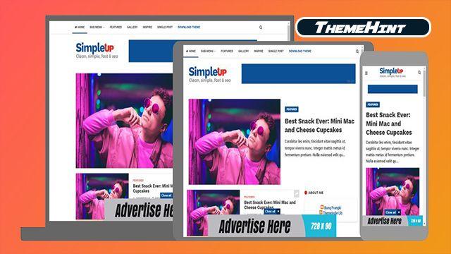 Simpleup Premium Blogger Template Free Download By Themehint In 2020 Free Blogger Templates Blogger Templates Templates Free Download