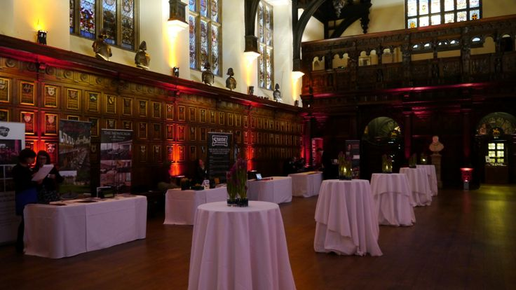 Exhibition stands and poseur tables in the Hall
