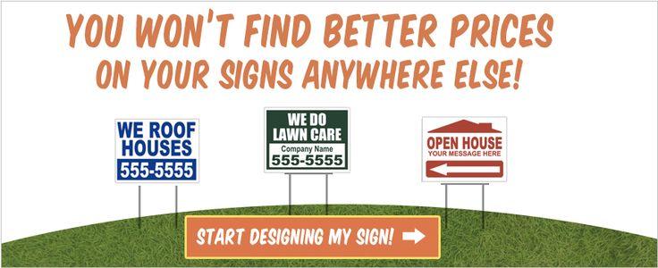 Cheap Yard Signs, Bandit Signs   SignsOnTheCheap