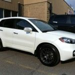 2016 White Color Acura RDX with Black Rims and Wheels
