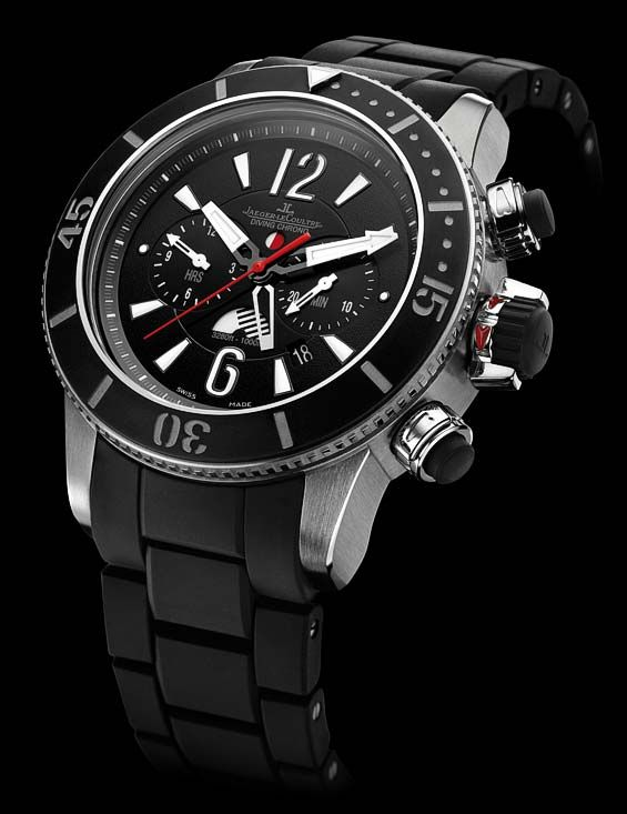 This is A watch : The Jaeger-LeCoultre Master Compressor Diving Navy SEALs watches: Alarm, Chronograph GMT and Pro Geographic