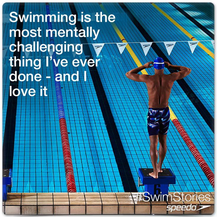 Swimming is the most mentally challenging thing I've ever done - and I love it. #swimming