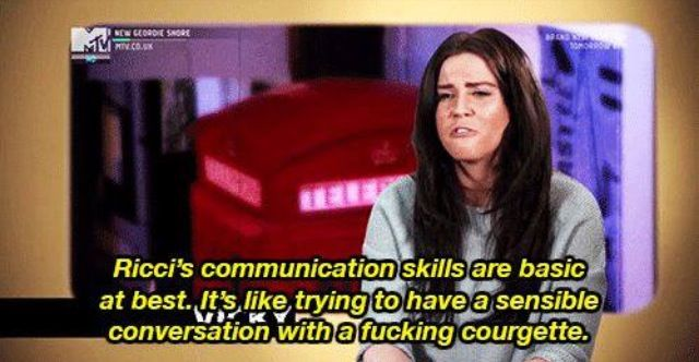 Geordie shore. Vicky. Quote