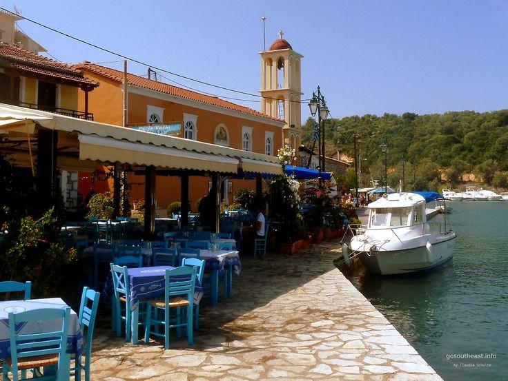 Sit down, relax and enjoy: Vathi #Meganisi #Greece