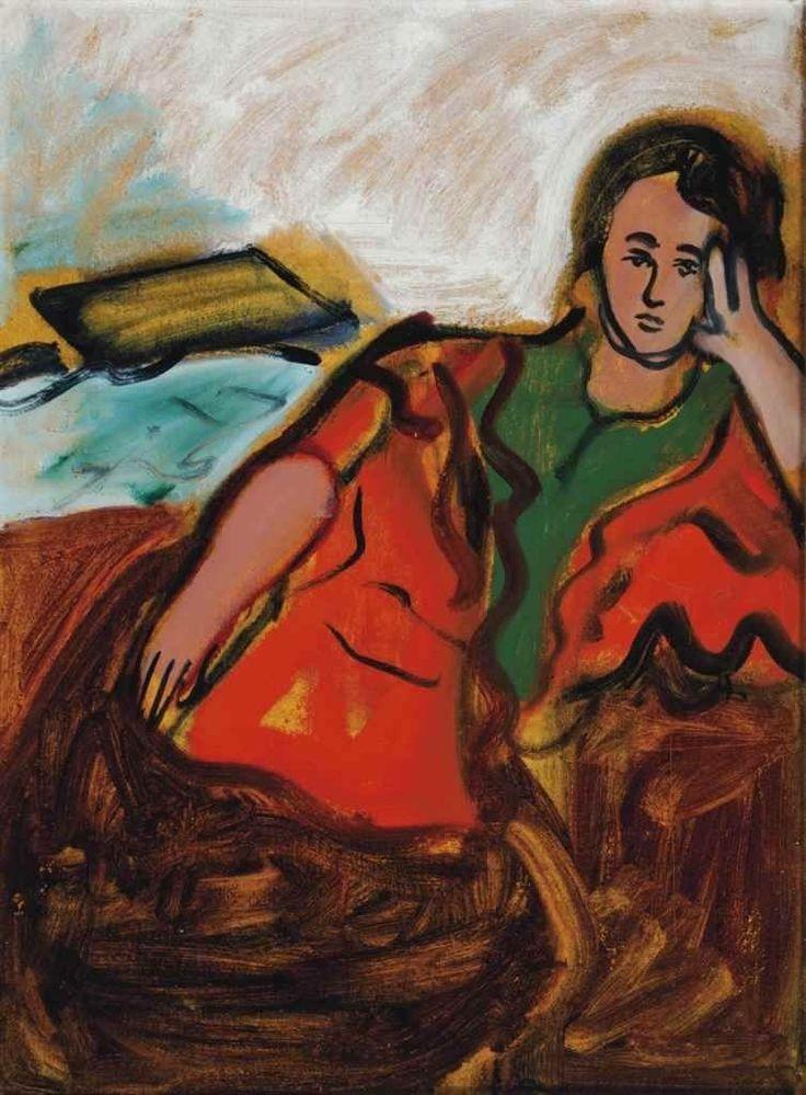Robert De Niro Sr. (1922- 1993) Girl in Orange Shawl, 1960