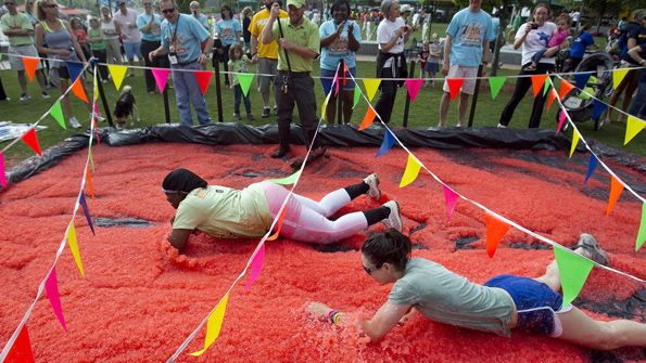 messy obstacle course game                              …